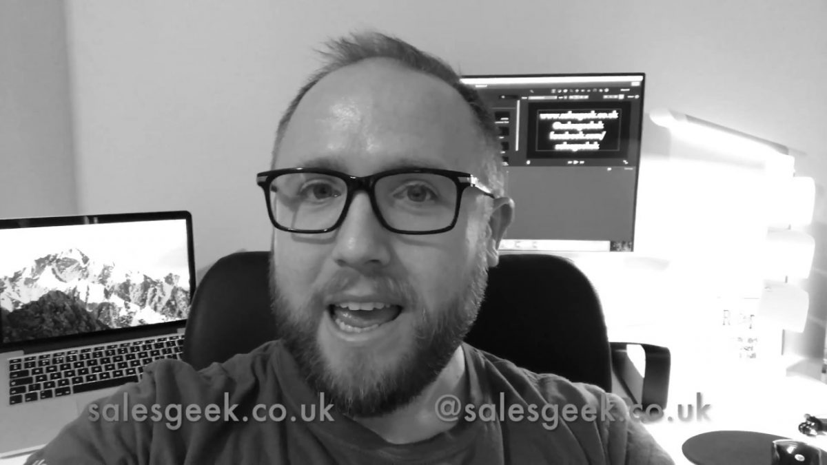 Weekly Geek Episode #3 – The Most Underrated Skill In Sales!