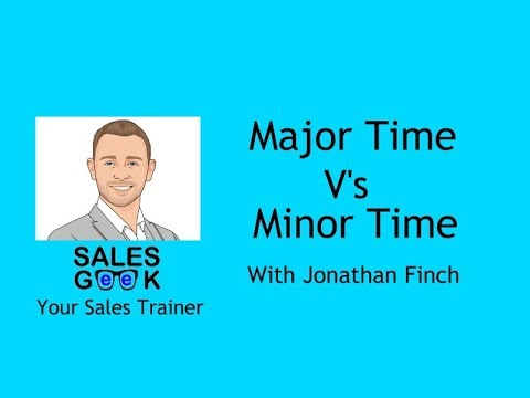 Major time V's minor time Weekly Training Geek 2