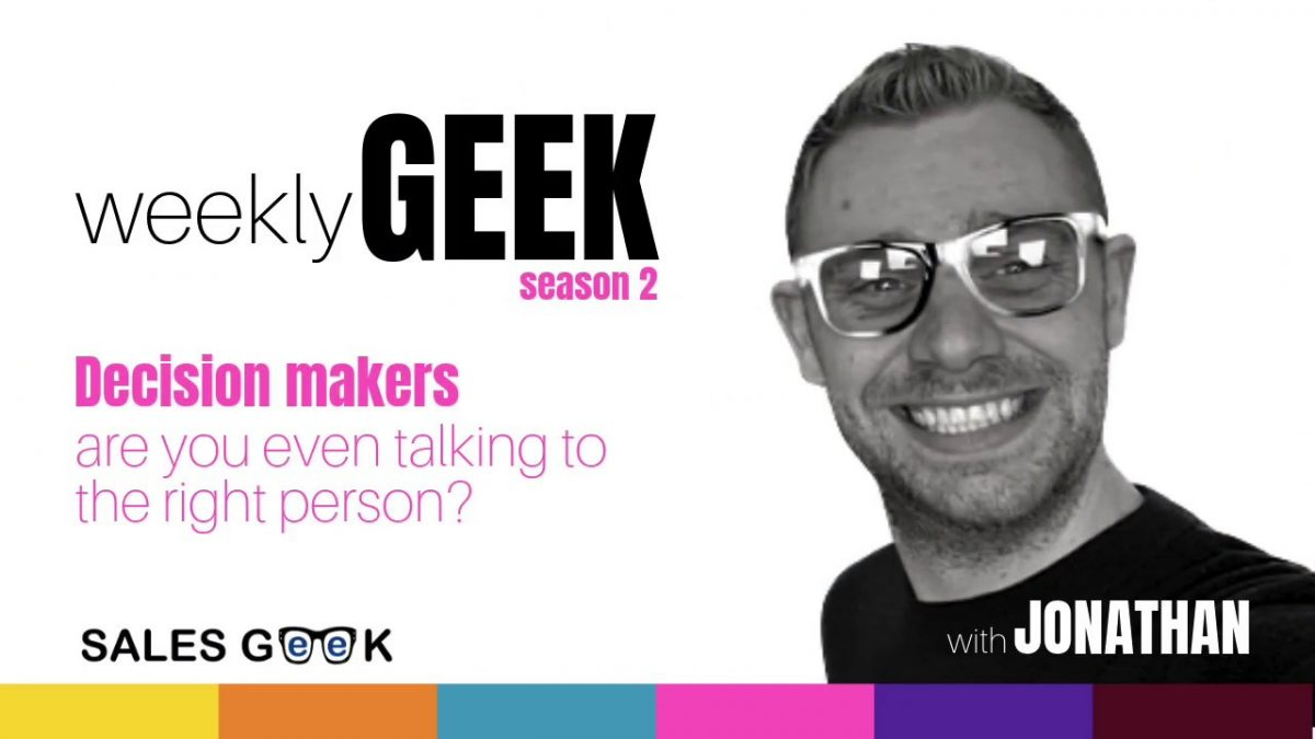 Weekly Geek S.2 Ep1: Decision Makers