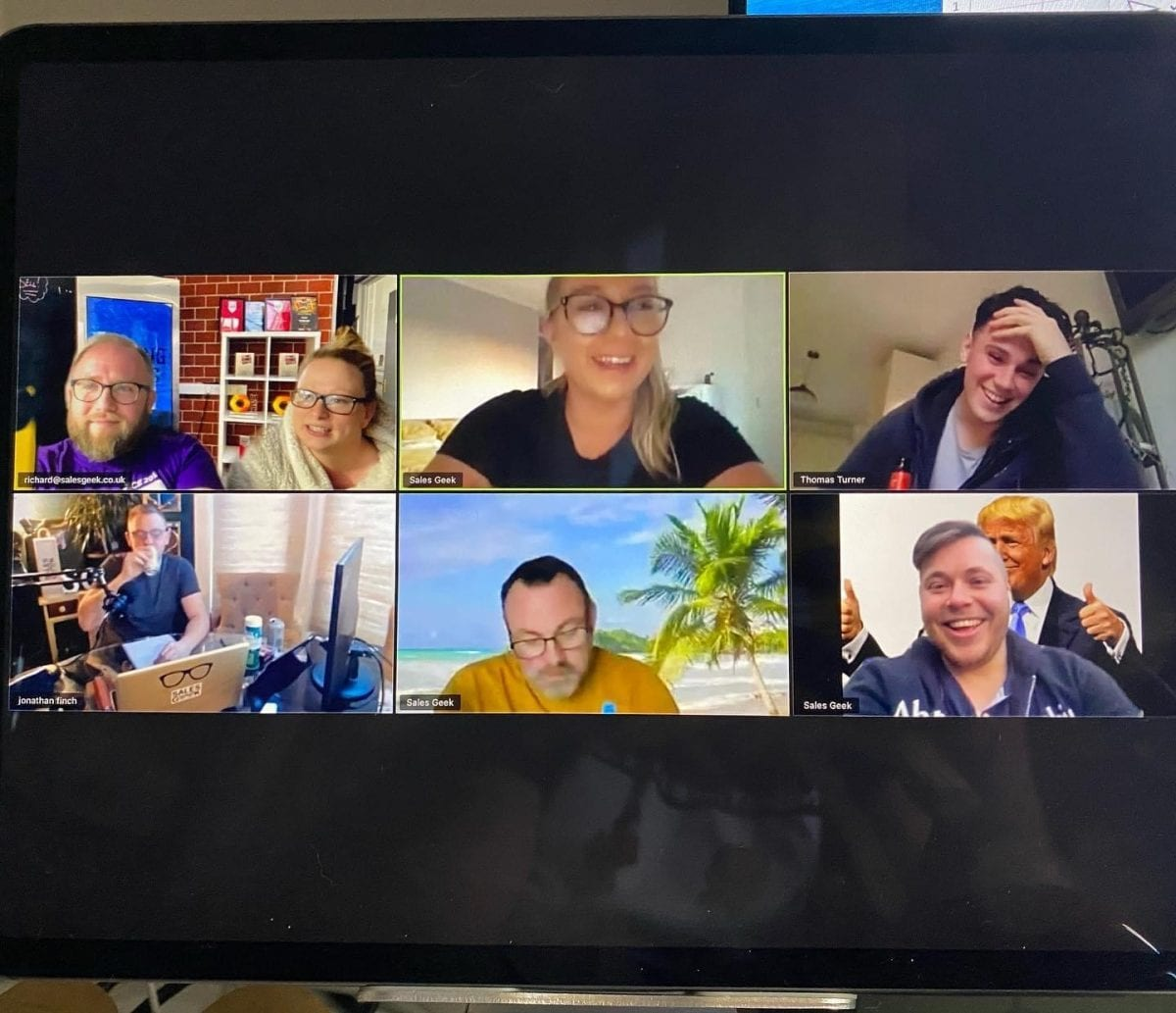 Team Geek On A Zoom Call