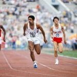 Daley Thompson win olympic gold Moscow 100m sprint event